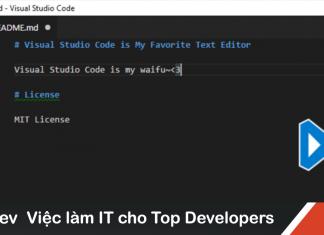 Ưu điểm của VS Code