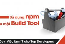 Sử dụng npm như một Build Tool