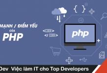 điểm mạnh và điểm yếu của PHP