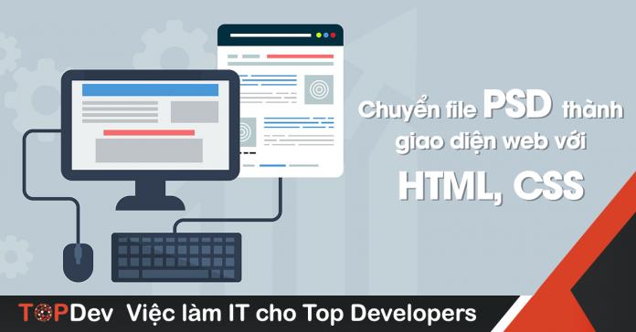 thiết kế giao diện web bằng file psd