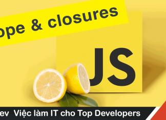 scope và closure trong javascript