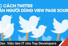 twitter ngăn người dùng view page source