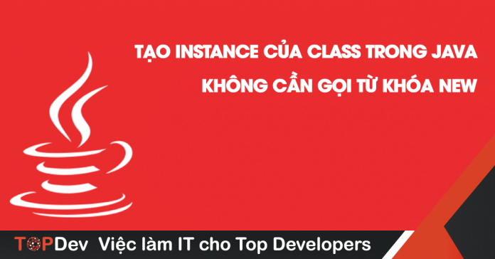 tạo instance của class trong java