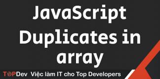 remove array duplicates trong es6