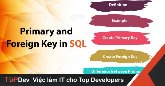 khoá chính và khoá ngoại trong SQL là gì