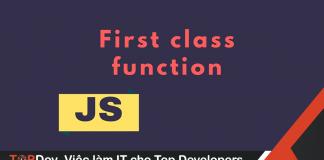 First-class functions trong Javascript là gì