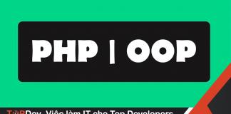 Học lập trình hướng đối tượng với PHP