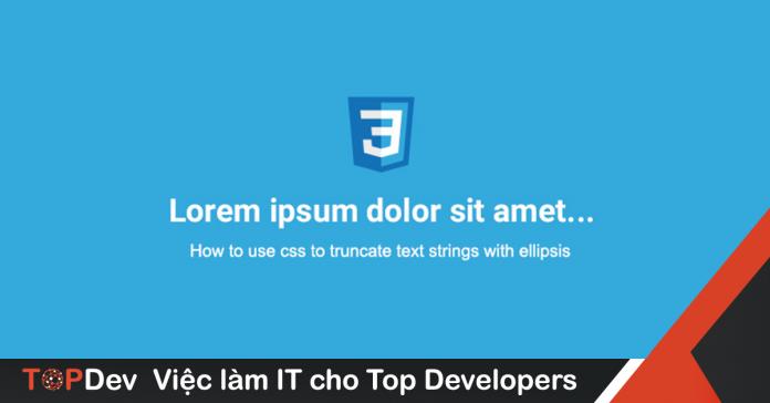 cách xử lý text-overflow với CSS