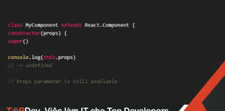 Tại sao phải gọi super(props) trong constructor của React component