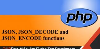 json_encode và json_decode trong PHP