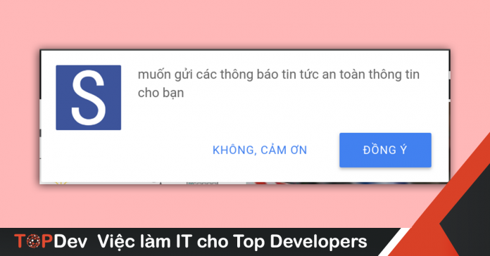 Cách tạo Web Push Notification
