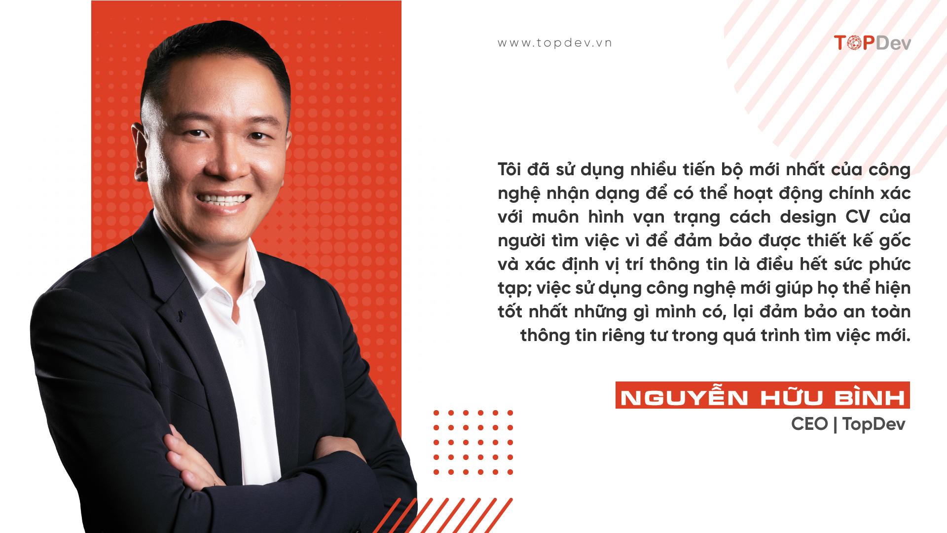 CEO TopDev ra mắt công nghệ AI/Computer Vision trợ giúp kết nối doanh nghiệp với người mất việc vì Covid
