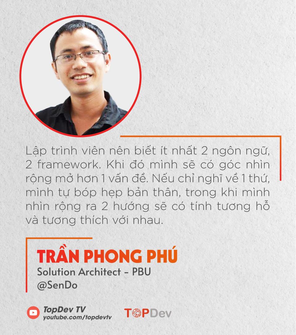 Phú Trần - Solution Architect tại Sendo và tìm hiểu con đường sự nghiệp của Solution Architect