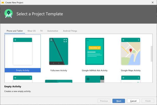 Cách tạo dự án trong Android Studio phiên bản năm 2020
