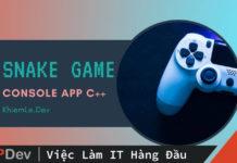 Code game rắn săn mồi trên console bằng C++