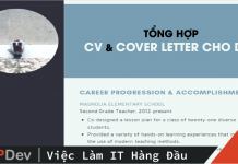 Cover Letter cho Dev