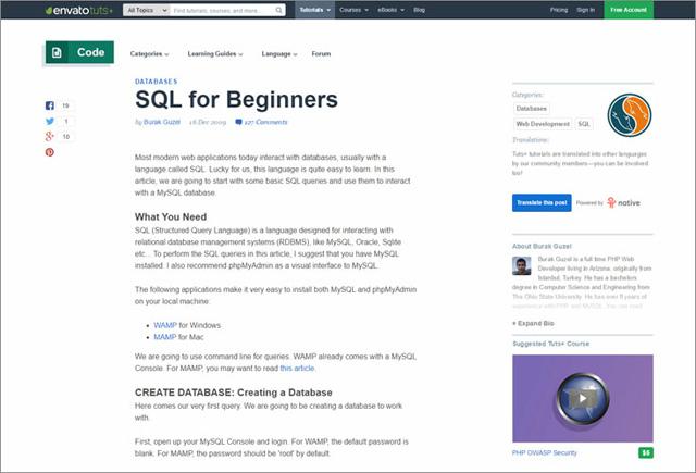 Muốn học về SQL và cơ sở dữ liệu, không nên bỏ qua 23 tài nguyên trực tuyến này