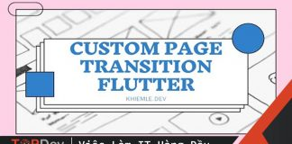 Custom page transition – Flutter