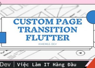Custom page transition – Flutter