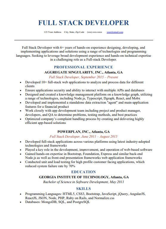 CV cho sinh viên IT mới ra trường
