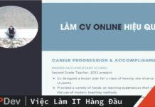 làm cv online