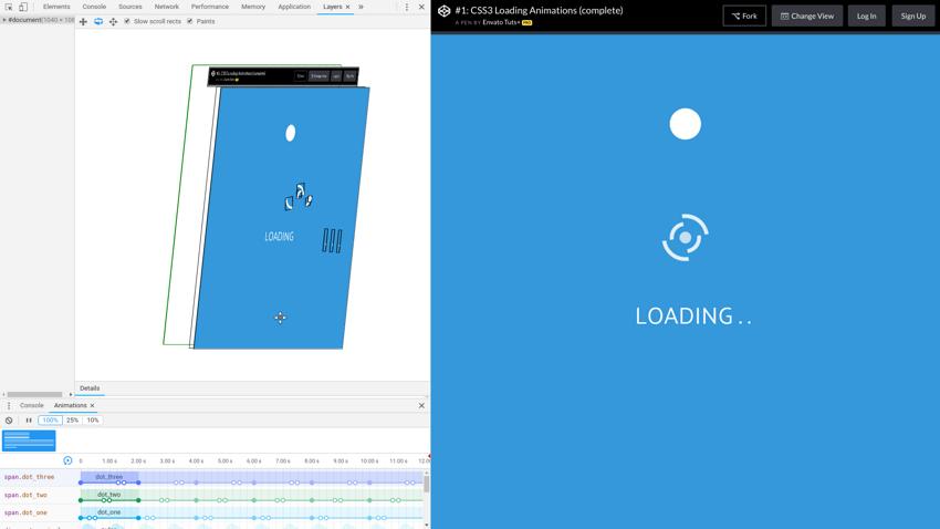 Hướng dẫn inspect animation với Chrome DevTools