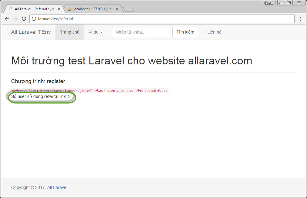 Xây dựng hệ thống referral trong Laravel
