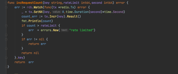 Rate Limiting with Go and Redis