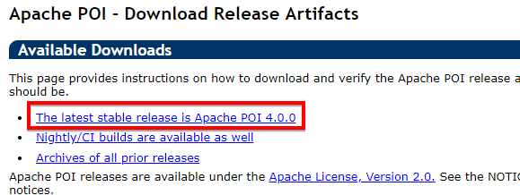 Sử dụng Apache POI để đọc, ghi dữ liệu từ file Excel trong Selenium