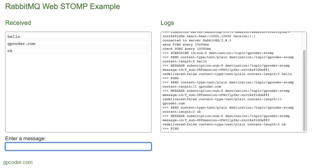 Kết nối RabbitMQ sử dụng Web STOMP Plugin