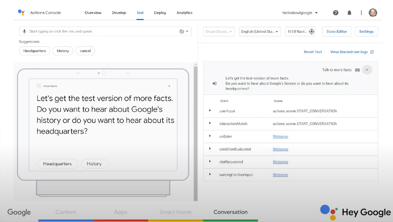 google assistant simulator