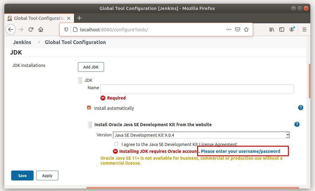Hướng dẫn cấu hình JDK (Java) cho Jenkins