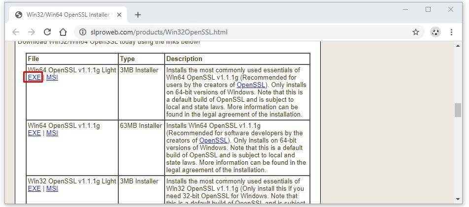 Hướng dẫn cài đặt OpenSSL trên Windows 10