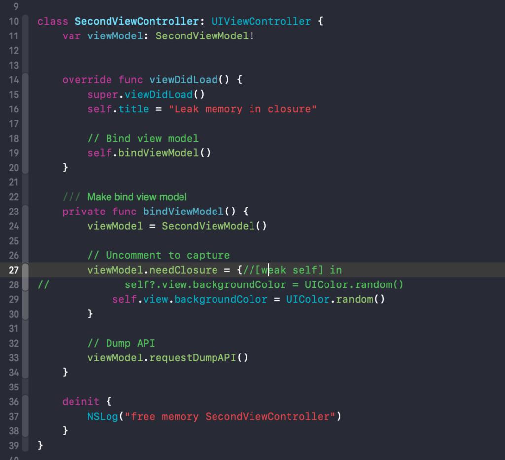 Lập trình IOS: Tạo Leak memory trong closure (phần 1)