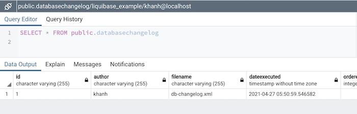 Database migration sử dụng Liquibase
