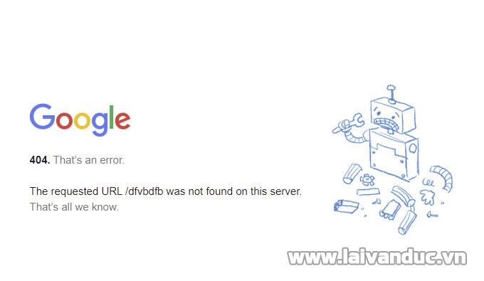 Lỗi 404 ! Giữ chân người dùng bằng trang 404 đẹp mắt