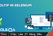 Làm việc với Tooltip trong Selenium