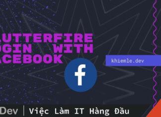 Flutter Firebase login với Facebook