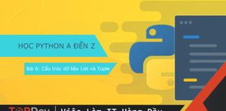 Cấu trúc dữ liệu List và Tuple trong Python